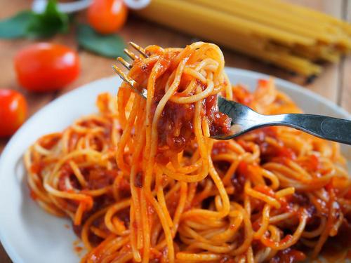 茹でたスパゲティーの堅さキープ...