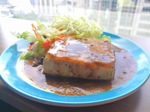 豆腐 ステーキ あんかけ