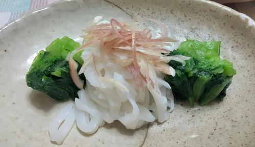 「小松菜の冷菜」