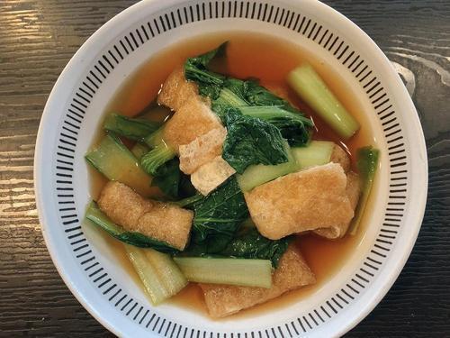 「油揚げと小松菜の煮浸し」